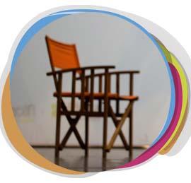 silla en escenario