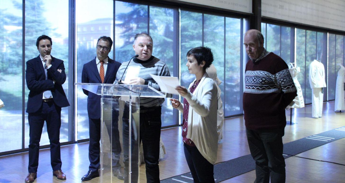 representantes de Fundación Ademo durante su intervención en la presentación