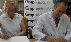 momento acuerdo firma entre Fundación Gmp y Ruber Internacional