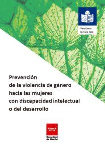 Portada Folleto Prevención Violencia de Género