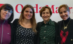 Maria Bueno, Chiara Digrandi, Ana Lozano y Luisa Roldán, en las instalaciones de OndaMadrid
