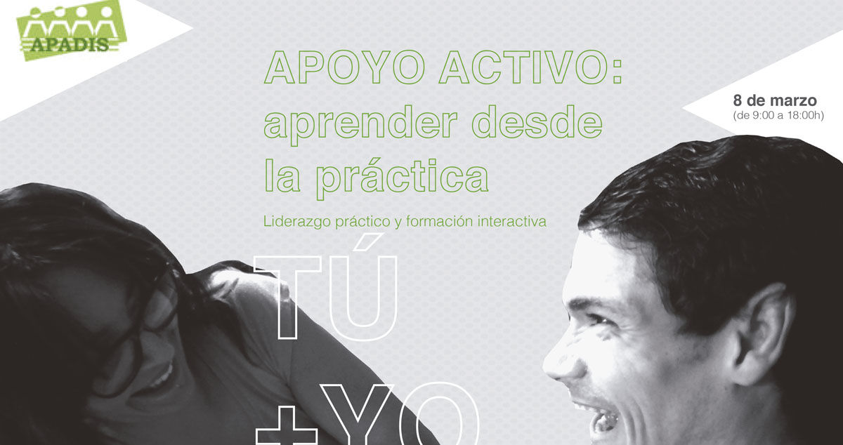 Detalle del cartel de la joranda de apoyo activo. Apadis. 8 de marzo.