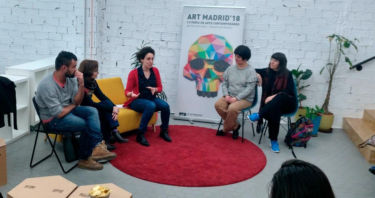 """""""Más Cultura, Más Inclusión"""" participa en Art Madrid con los artistas de """"Espacio Convergente"""" que debatieron sobre """"El arte como herramienta de inclusión desde los márgenes de la educación"""""""