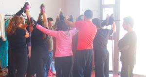 Imagen de ensayo de la pieza coreográfica