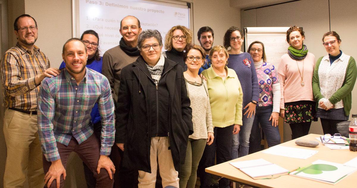 Participantes en el curso de formación avanzada en lectura fácil