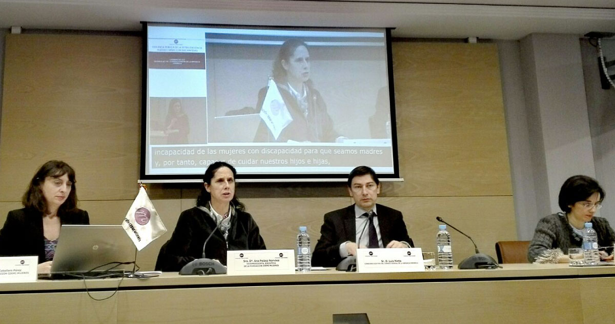 Intervinientes en la presentación del estudio