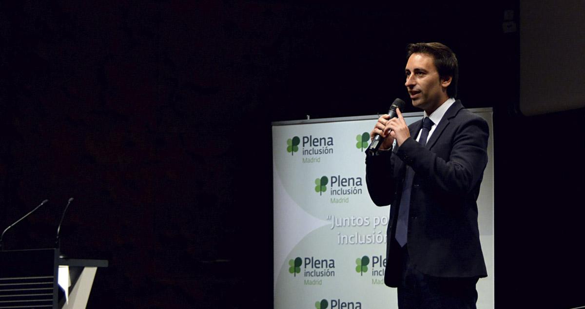 Javier Luengo durante una intervención pública en diciembre de 2017