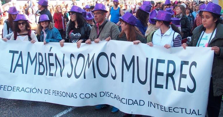 Imagen de la participación del colectivo en manifestaciones del 8 de marzo de años anteriores
