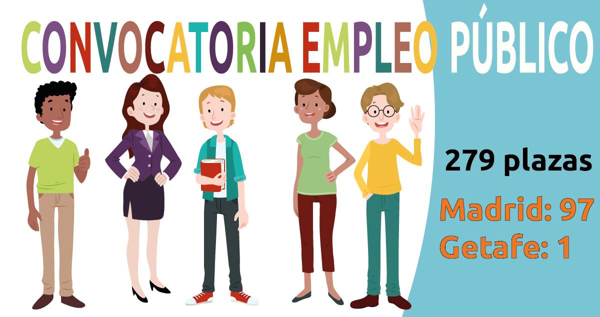 Convocadas 98 plazas de empleo público en Madrid