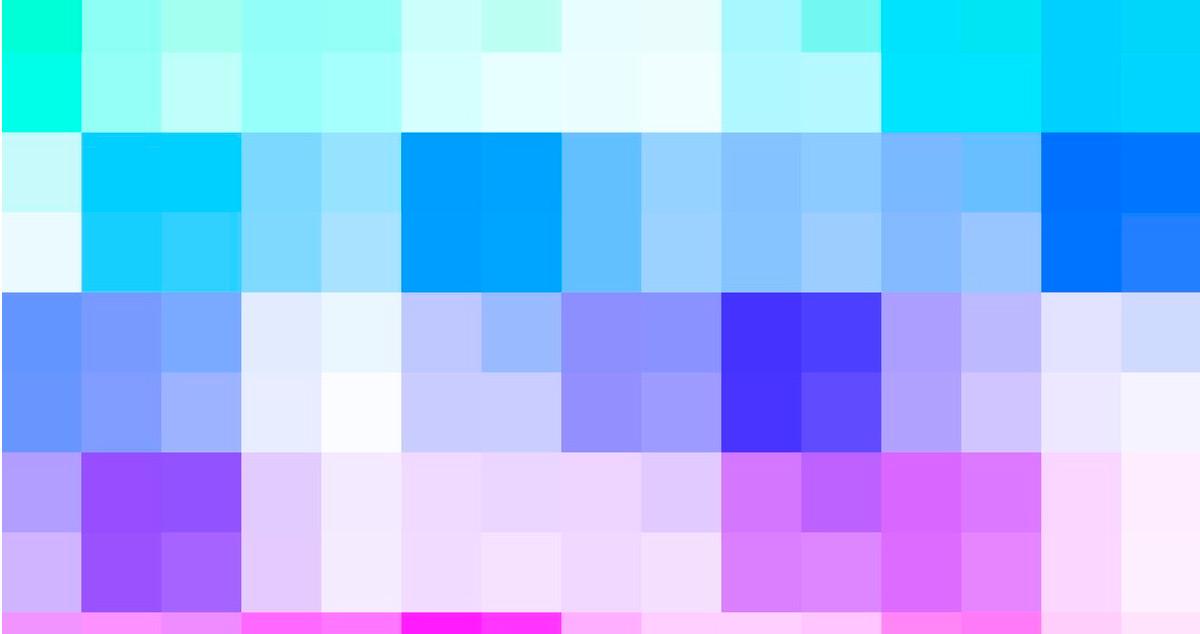 Imagen de recurso. Píxeles de colores.