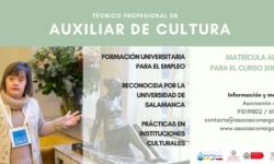 Imagen cartel auxiliar cultura