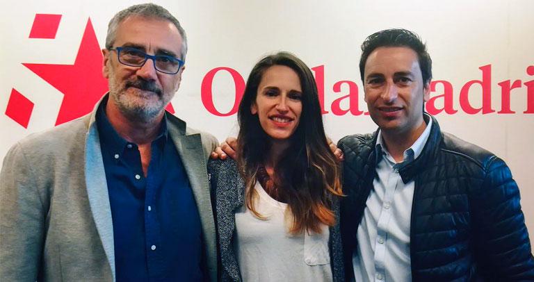 Fesser, González y Luengo en las instalaciones de ONdamadrid