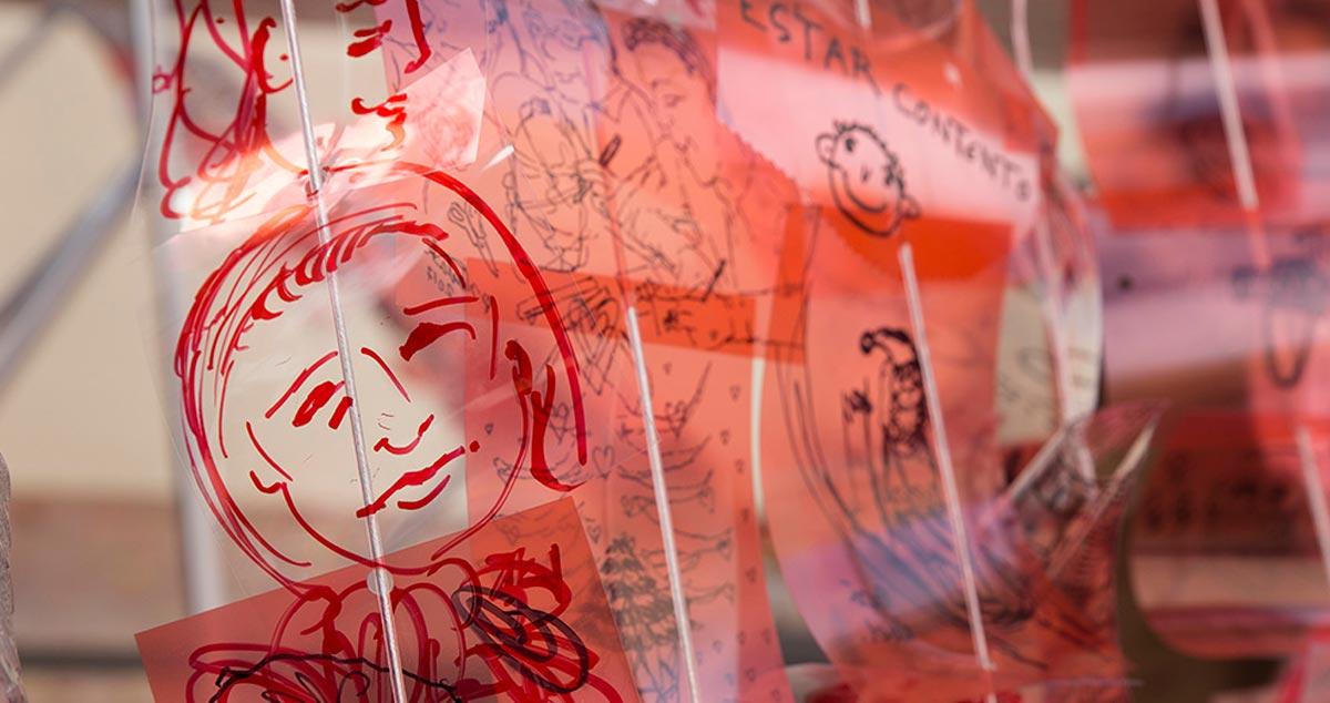 detalle trabajo artes plásticas inclusivo en Universidad Nebrija