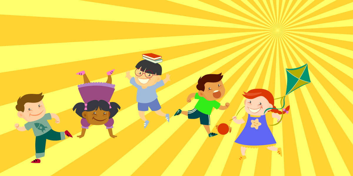 imagen niños jugando en verano