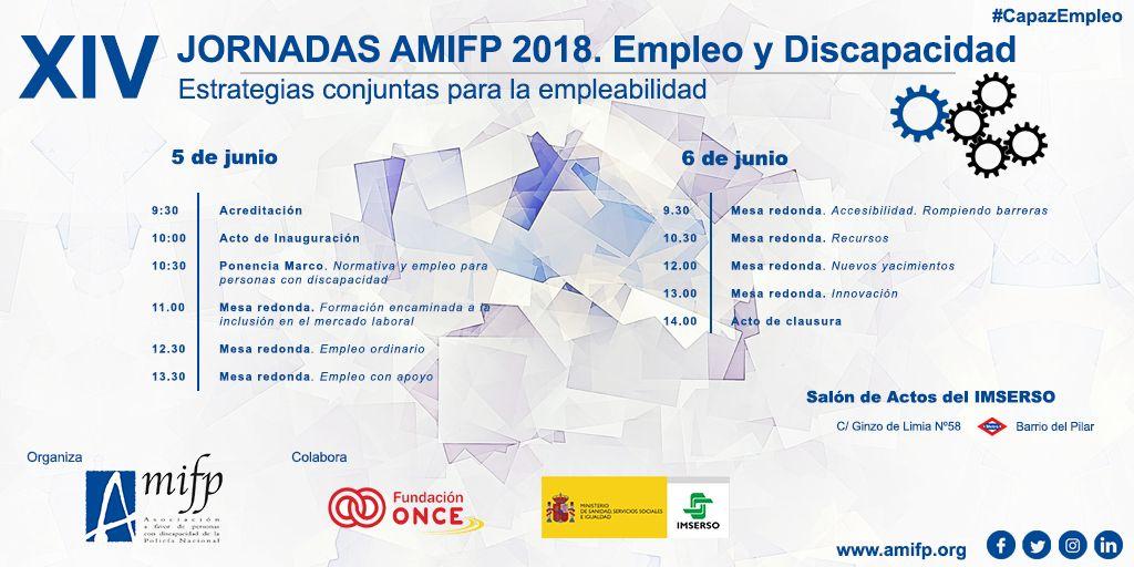 Jornadas Amifp 2018. Empleo y Discapacidad: Estrategias conjuntas para la empleabilidad.