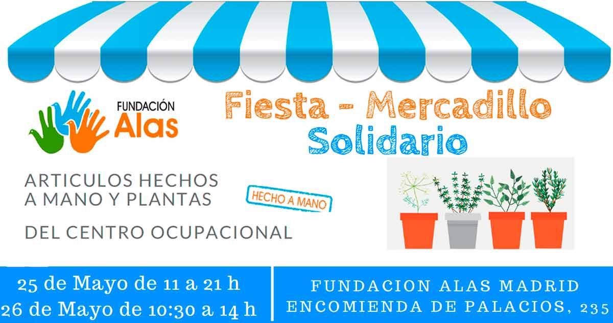 Fiesta y mercadillo solidario de Fundación Alas Madrid