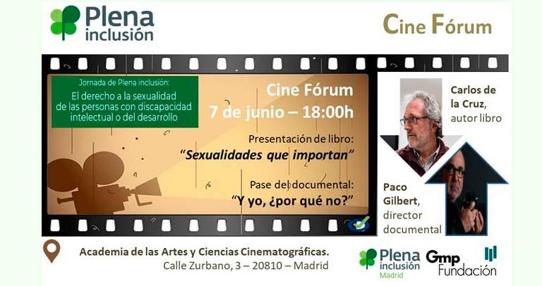 Cine Fórum + Presentación Libro. Derecho a la sexualidad de las personas con discapacidad intelectual