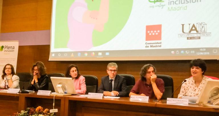 Mesa inaugural jornada Mujer y Discapacidad intelectual