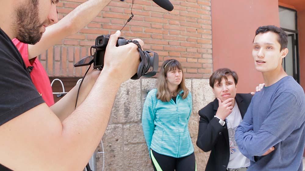 Rodaje escenas sesión proyecto Hazte Ver número 9.