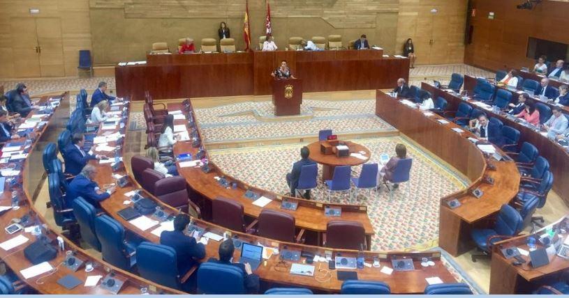 El Pleno de la Asamblea durante el debate de la PNL