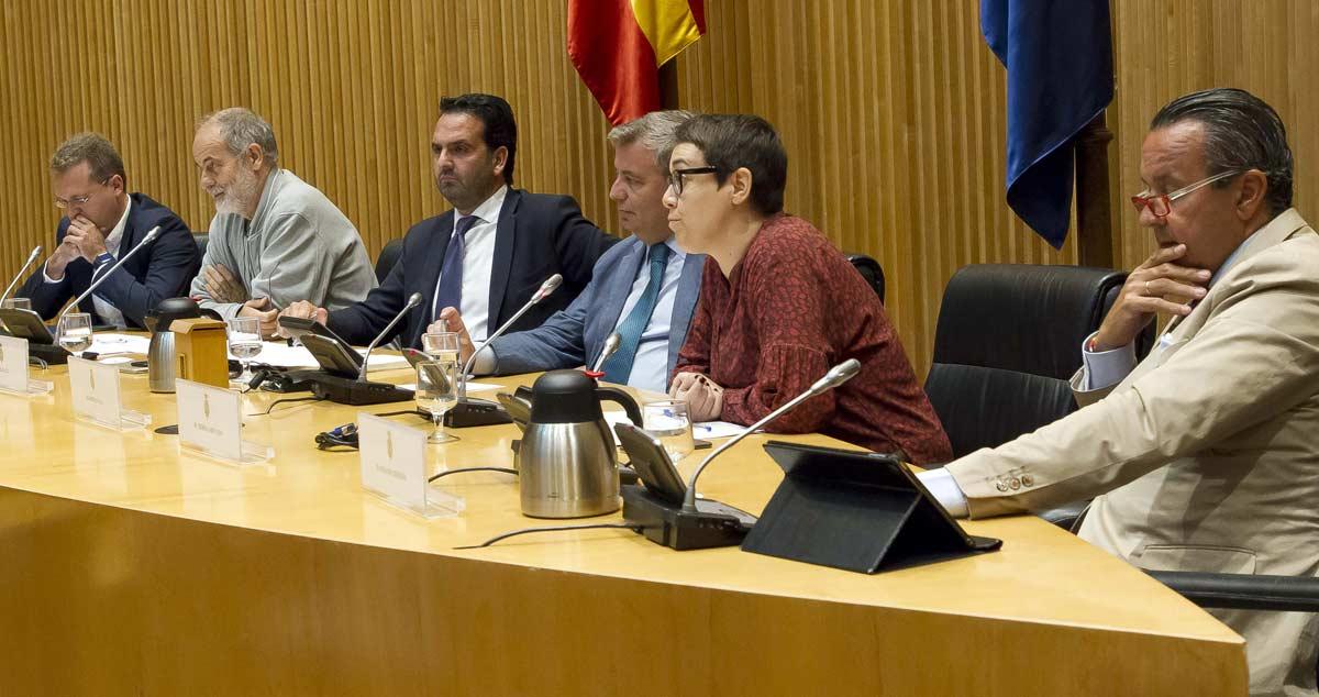 Integrantes de la mesa que escuchó a los representantes en el Congreso