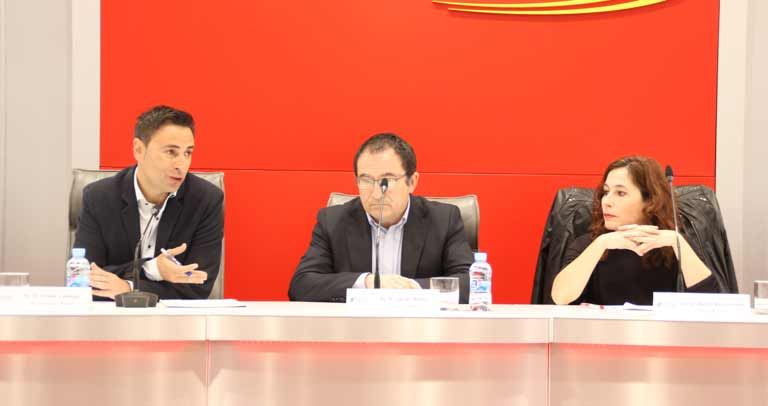 Javier Luengo, Javier Albor y Beatriz Martínez