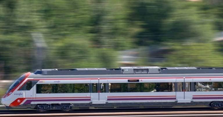 Tren circulando