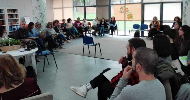 Imagen del encuentro entre ambos grupos