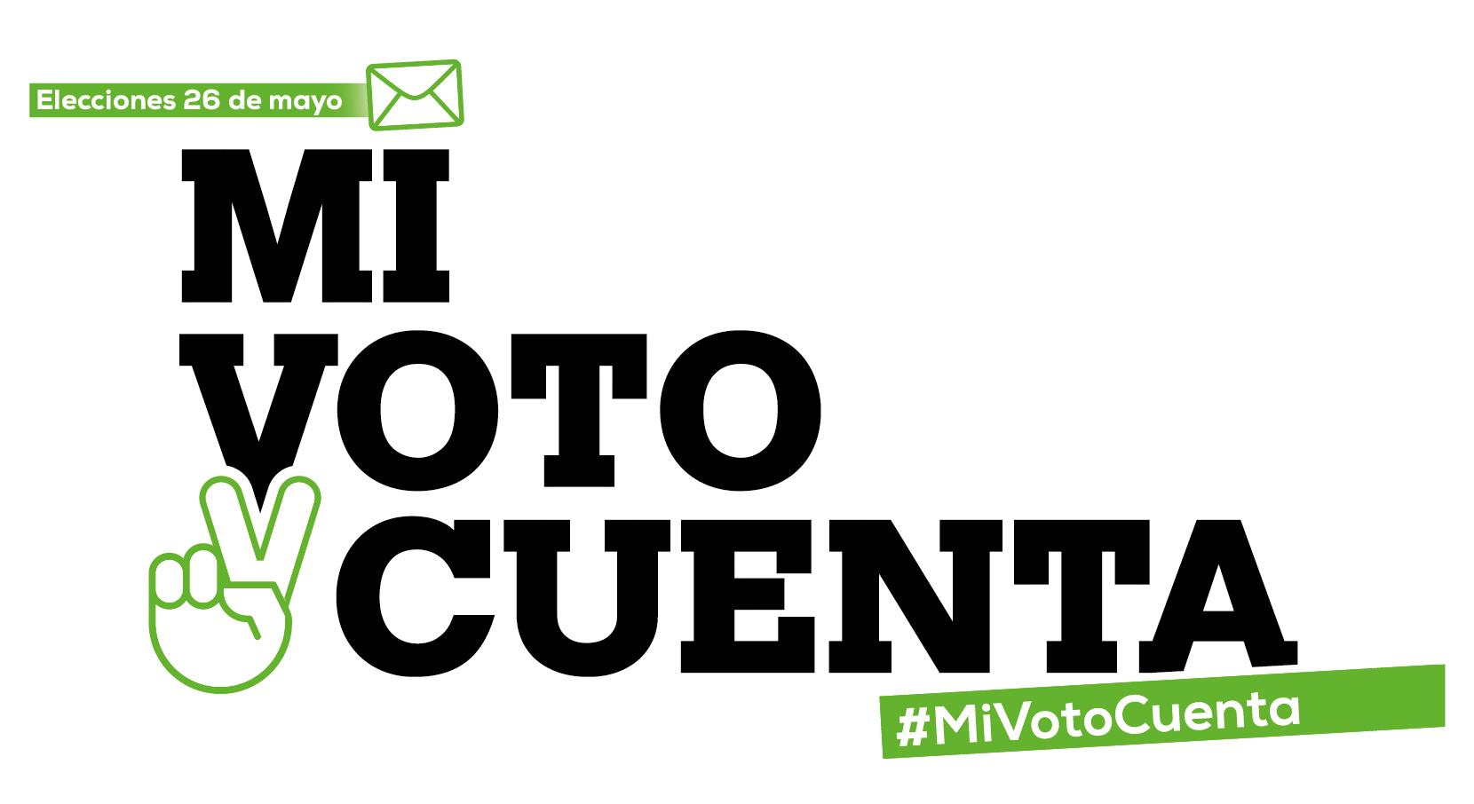 Logotipo de campaña MiVotoCuenta
