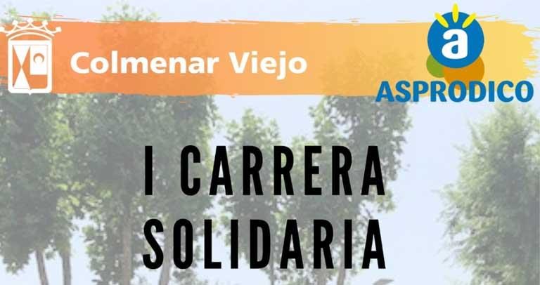 Cartel de la I Carrera Solidaria Asprodico