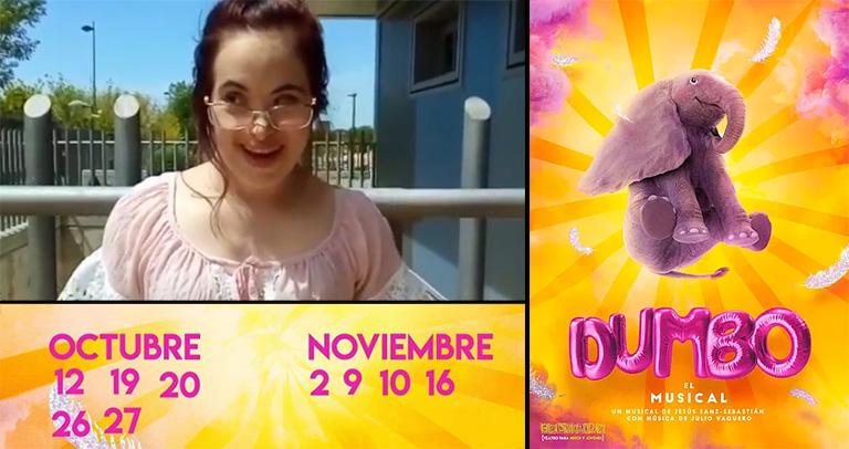 Ana Martín, protagonista del musical Dumbo