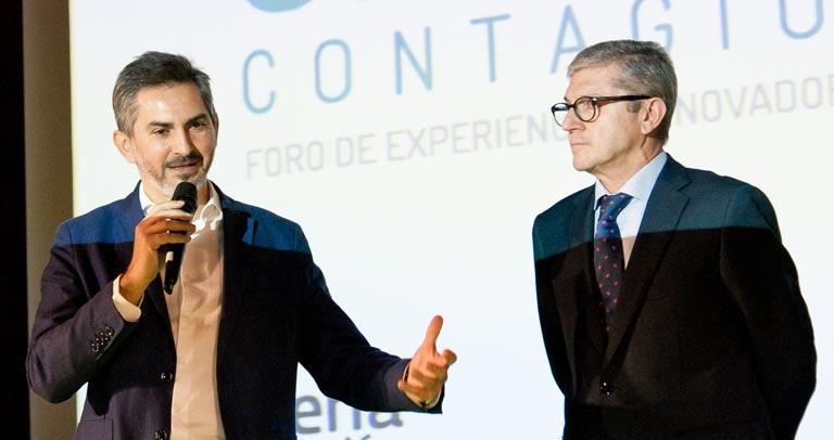 Pepe Aniorte, concejal y Mariano Casado, presidente de Plena iNclusión Madrid