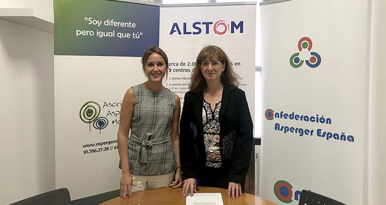 Acuerdo de colaboración entre Asperger Madrid y Alstom España