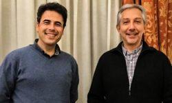 Johann y Alexis posan en la Escuela Superior de Canto de Madrid