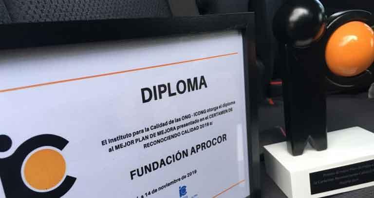 premio y diploma