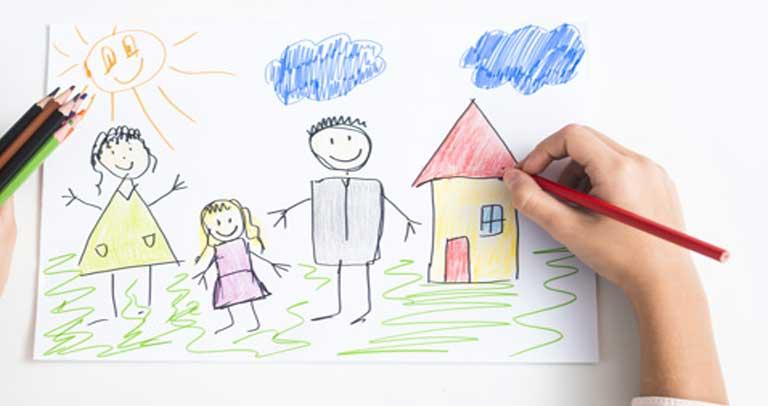 Dibujo de una familia