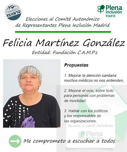 Cartel de Felicia Martínez, elecciones autonómicas