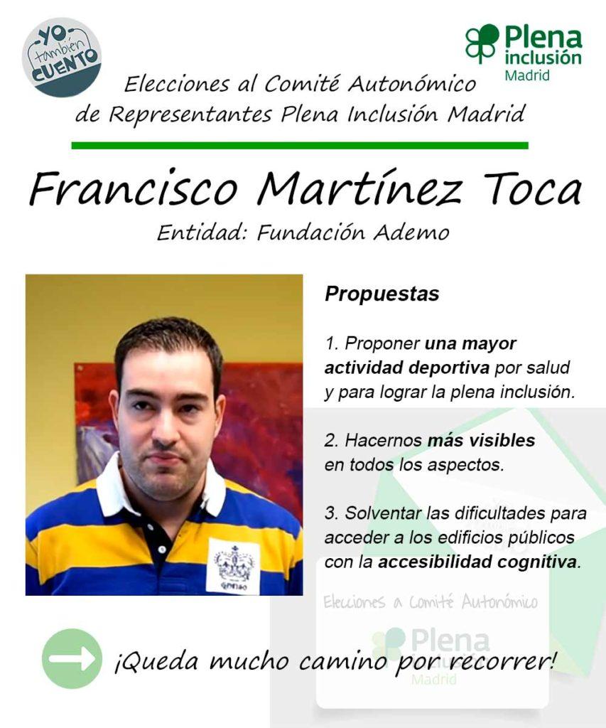 Cartel electoral de Francisco Martínez