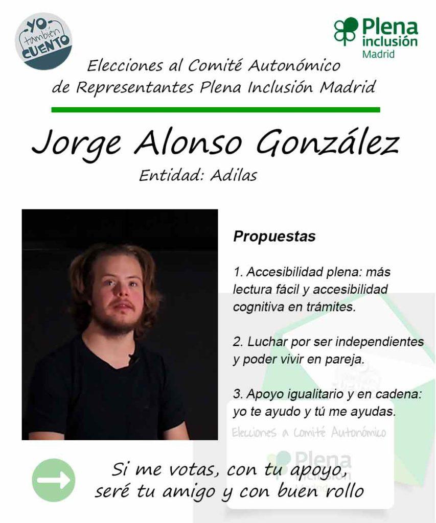 Cartel de Jorge Alonso para las elecciones 2019