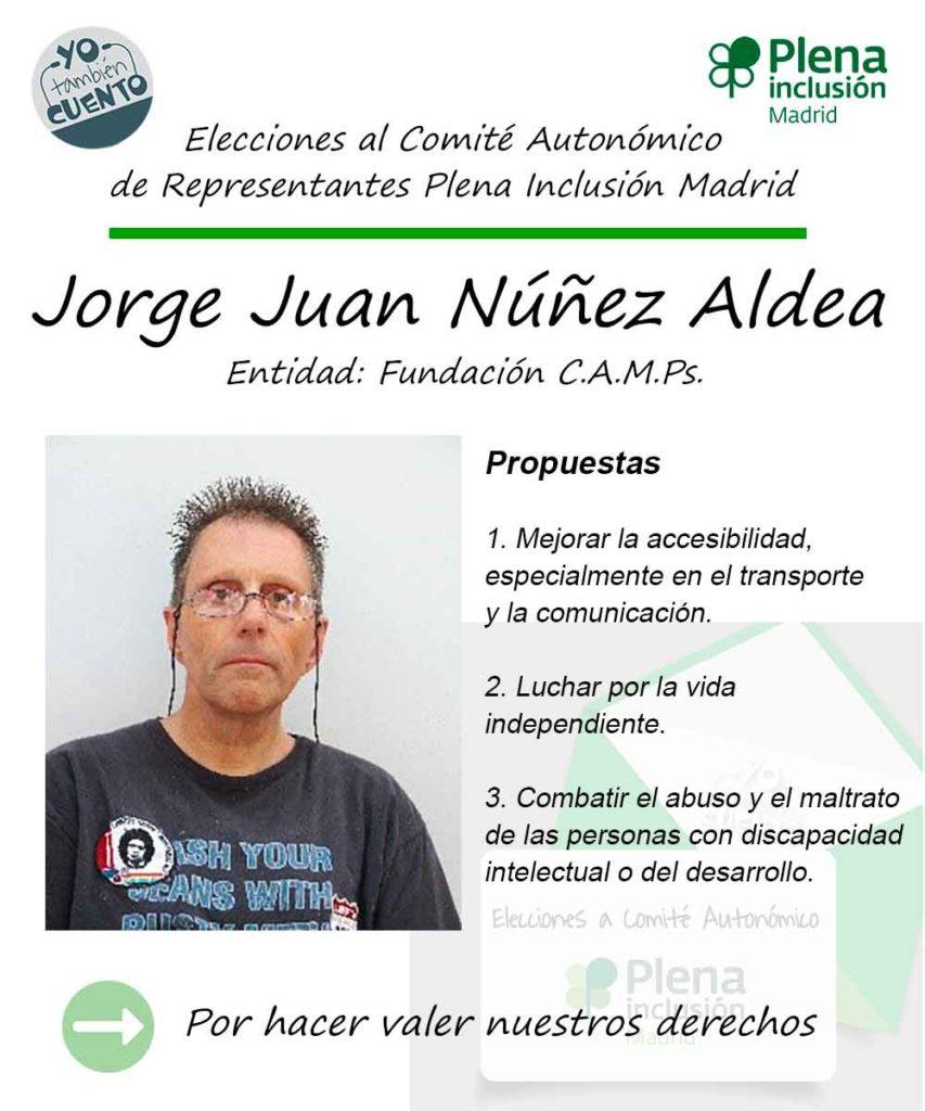 Cartel electoral de Jorge Juan Núñez