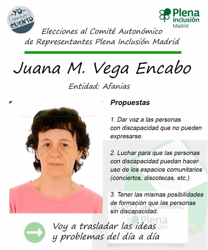Cartel electoral de Juana María Vega