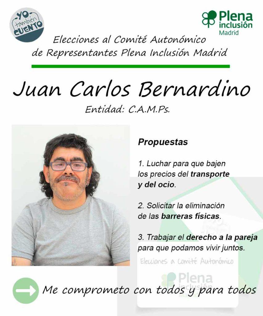 Cartel electoral de Juan Carlos Bernardino