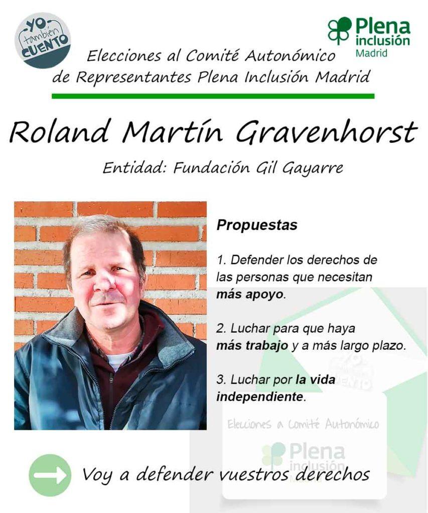Cartel electoral de Roland Martín