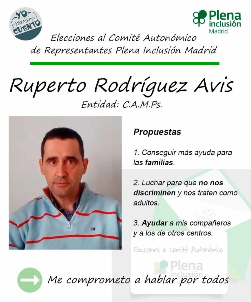 Cartel electoral de Ruperto Rodríguez