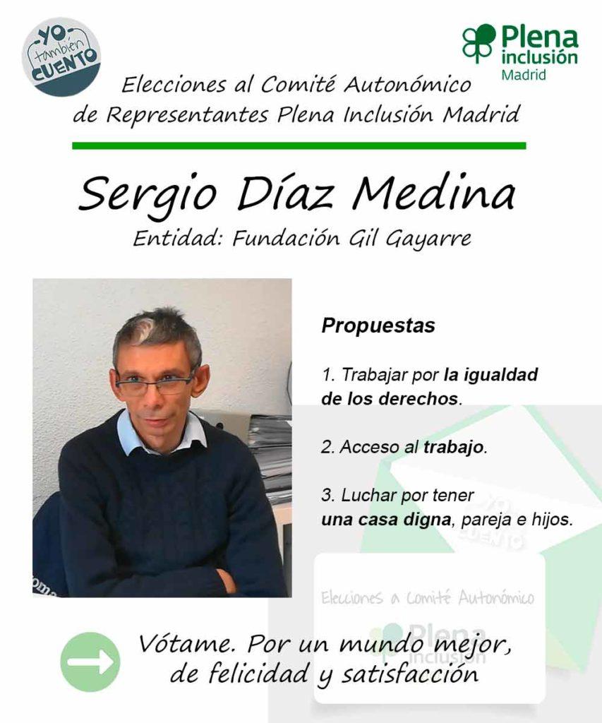 Cartel electoral de Sergio Díaz