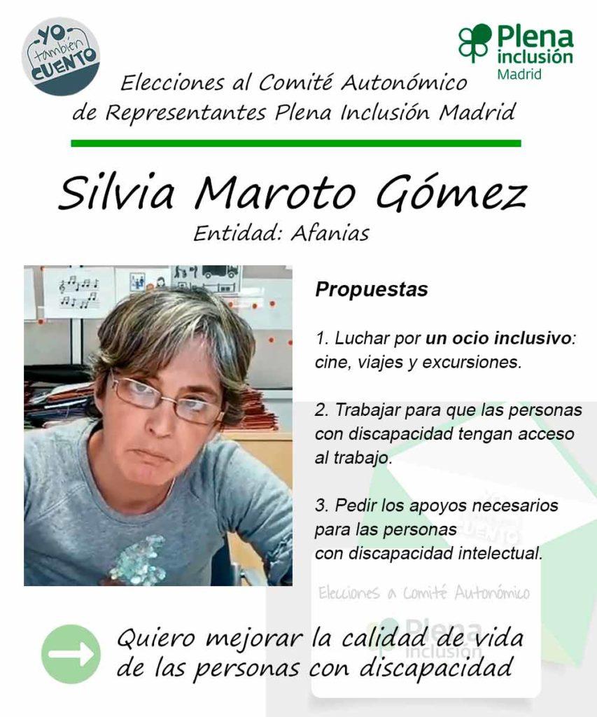 Cartel electoral de Silvia Maroto Gómez