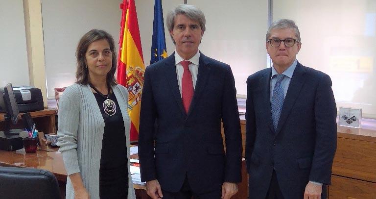 Silvia Sánchez, Ángel Garrido y Mariano Casado