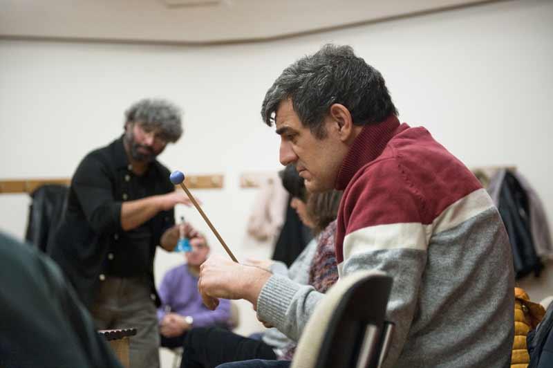 Juanjo Grande durante uno de los talleres del proyecto Big Bang