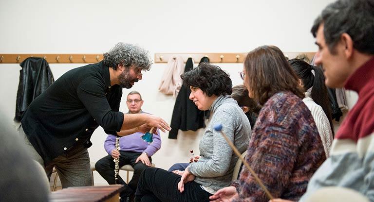 Juanjo Grande, en una de las sesiones del proyecto Big Bang