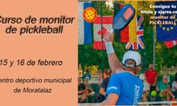 Cartel del curso de monitor de pickleball